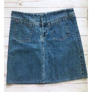 Gap Factory | a-line front pocket denim skirt | 6